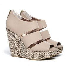 gorgeous, printed wedge platforms.