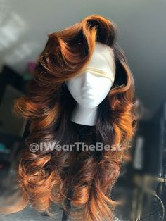 Human Hair Wigs Ombre Lace Front Wigs – Care – Skin care , beauty ideas and skin care tips Curly Hair Styles, Natural Hair Styles, Natural Hair Weaves, Wig Styles, Looks Hip Hop, Twisted Hair, Birthday Hair, Hair Laid, Cornrows