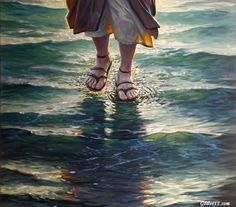 Image discovered by Find images and videos about god, jesus and Christ on We Heart It - the app to get lost in what you love. Jesus Christ Images, Jesus Art, My Jesus, Akiane Kramarik Paintings, Jesus Walk On Water, Jesus Painting, Jesus Christus, Prophetic Art, Biblical Art