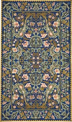 Acanthus collection adapted by Beth Russell of Designers Forum, from a William Morris design. William Morris, Medieval Tapestry, Tapestry Kits, Needlepoint Kits, Patterned Carpet, Acanthus, Persian Carpet, Rug Hooking, Textures Patterns