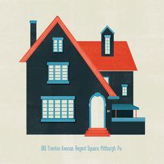 Custom House Illustration Portrait by reconstructingideas on Etsy