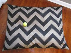 Chevron dog bed....this may be my first project on my sewing machine....