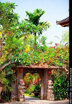 Balinese gate - Bali, Indonesia
