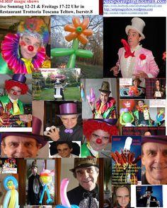 SERIP magic shows, lustig Zauberei, Magier-Clown-Zauberer, Ballonkünstler, Micro Magie, Shows, Events, Geburstag, life in Trattoria Toscana Teltow, Sonntags: 12-21 Uhr und Freitags: 17-22Uhr. Trattoria Toscana Teltow, te.: 03328-3565951, (www.original-trattoria-toscana.de ,  https://www.facebook.com/originaltrattoriatoscana, https://www.facebook.com/GeburtstagePartysEvents, info@original-trattoria-toscana.de ), ist für mich das beste Restaurant, mit besseren Animationen, vor allem für…
