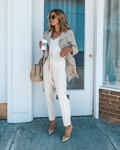 cute spring outfits to inspire yourself Business Casual Outfits, Business Attire, Business Formal, High Street Fashion, Street Chic, Outfit Style, Suits For Women, Clothes For Women, Cute Spring Outfits