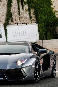 """fullthrottleauto: """"Grigio estoque Aventador in Monaco (by ZellusCars) (FT) """""""