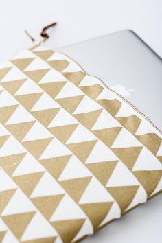 Gold Triangle Fabric