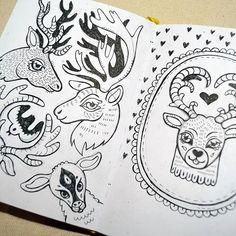 illustrator Samarskaya Milana #sketch #deer #illustration