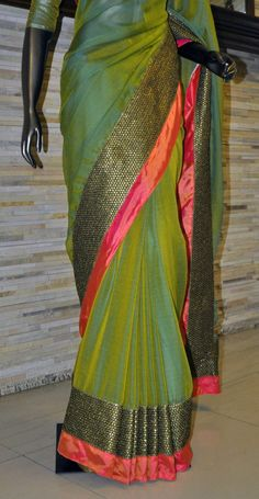 Green,pink,orange and what not...all colours beautifying a lady..