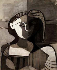 dionyssos:  Pablo Picasso , Marie -Therese Walter ( buste de jeune femme ) 1927