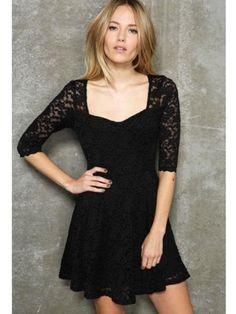 Charming U-Neck Short Sleeves Bobydoll Dress Black  $17.95 http://www.sensationofnight.com/charming-u-neck-short-sleeves-bobydoll-dress-black-af6679-2.html