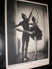 Old postcard ballet Harold Turner Violetta Prokhorova by Harrison & son 1948