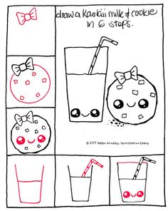 Draw cute kawaii toast step by step art learn to draw for Girly drawings step by step
