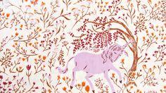 Far Far Away - Unicorn (Violet) - Heather Ross - Windham Fabrics by SewStitchingHappy on Etsy https://www.etsy.com/listing/199929133/far-far-away-unicorn-violet-heather-ross