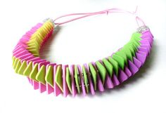 Polymer Clay Necklace Garland by SilviaOrtizDeLaTorre on Etsy