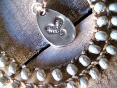 Pearl crochet necklace fine silver silver by SilverCandyJewels, $45.00