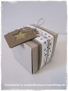 Stanz- und Falzbrett für Geschenkverpackungen Sterne Weihnachten Sternenkonfetti Stampin`Up!1