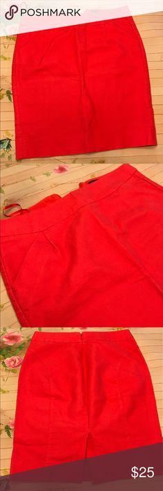 J. Crew  the pencil skirt flash sale NWOT pencil skirts use 4 coral J. Crew Skirts Pencil