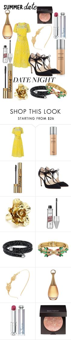 """SUMMER DATE NIGHT OUTFIT"" by andreamartin24601 ❤ liked on Polyvore featuring L.K.Bennett, Christian Dior, Yves Saint Laurent, Jimmy Choo, Oscar de la Renta, Benefit, Swarovski, Helene Zubeldia, Avigail Adam and Laura Mercier"