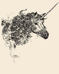 Unicorn tattoo :) might have to get my tat for my mom covered up with this and redone for her!!