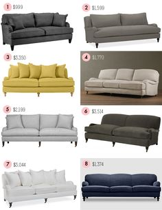 Roundup of English roll-arm sofas