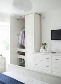 62 Ideas For Bedroom Ikea Wardrobe Dressers Bedroom Built Ins, Tv In Bedroom, Closet Bedroom, Bedroom Furniture, Bedroom Decor, Built In Bedroom Cabinets, Ikea Bedroom Storage, Closet Built Ins, Bedroom Dressers