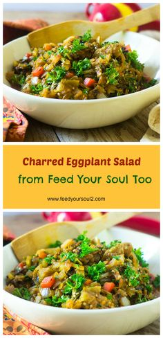 Charred Eggplant Salad from Feed Your Soul Too
