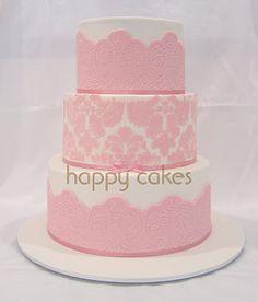 Leoni's damask cake