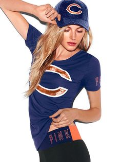 Chicago Bears Bling Pink Tee
