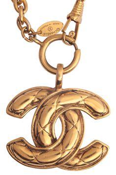 WGACA Vintage CC Quilled Necklace