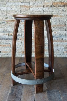 Our Napa Valley Wine Barrel Stools are incredibly well built and sure to look great in any refined space. We craft this wine barrel stool entirely from a recycled red wine barrel. The Napa barrel was used in production for several years and has red wine… Wine Barrel Bar Stools, Wine Crate Table, Wine Barrel Diy, Whiskey Barrel Furniture, Metal Barrel, Wine Barrels, Bourbon Barrel, Table Baril, Home Decor