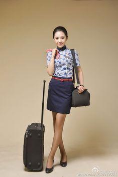 Stewardess Pantyhose, Beautiful Asian Girls, Beautiful People, Flight Girls, Airline Uniforms, Cabin Crew, Professional Outfits, Sexy Stockings, Office Ladies