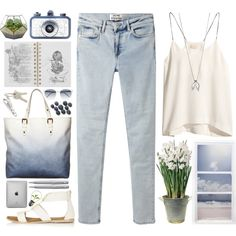 blue 03.03 by yexyka on Polyvore featuring H&M, Acne Studios, Topshop, Borbonese, Minor Obsessions, Thierry Lasry, Crate and Barrel, Mulberry, BULB and Lomography