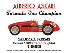 1952 Champion Alberto Ascari by Formula 1, Sport Cars, Race Cars, Formula One Champions, Blueprint Drawing, F1 Drivers, F 1, Cold War, Auto Vintage