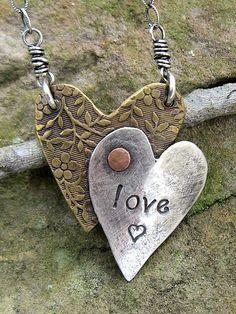 Custom Made Drawn To Art™ Heart Necklace by Jewelry by Stephanie