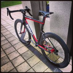 Finally the wait is over.  She's finally home.  Too wet for a test ride though.  #Bmc #Tmr01