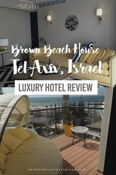 Luxury Hotel Review – Brown Beach House, Tel Aviv, Israel The new arrival making its mark on the Tel Aviv beachfront is Brown Beach House. This 39 room sister to the already highly successful Brown TLV stands out from the large chain hotels currently domination the beach for its contemporary yet personal homely style. Matching Brown TLV in its retro, sophisticated décor throughout its spacious rooms and suites, lively bar and kosher café/restaurant.