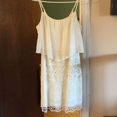 🔻LOWEST PRICE🔻 American Eagle Ivory Dress NWT American Eagle Ivory tank dress.                   Zipper detail on the back😻 American Eagle Outfitters Dresses