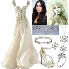 """""""Khione (Goddess of Snow)"""" by lilacmayn on Polyvore"""