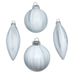 4ct Marble Glass Christmas Ornament Set - Wondershop™ : Target