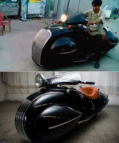 Honda Shadow 600 Motorcycle Turned Art Deco KJ Henderson Masterpiece and 18 More Cool Photos Concept Motorcycles, Cool Motorcycles, Vintage Motorcycles, Mini Motorbike, Motorcycle Bike, Henderson Motorcycle, Best Electric Scooter, Retro Scooter, Drag Bike