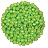 Lime Green Shimmer Sugar Pearls