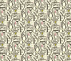 alphabet: red-lime fabric by applesandorange on Spoonflower - custom fabric