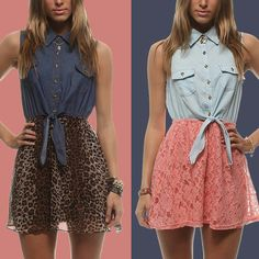 Rue 21! I got the dress on the right is so pretty right?