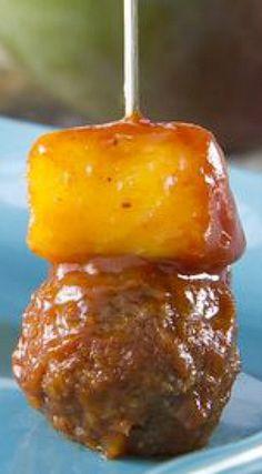 Chipotle Mango Meatballs | Bite-size BBQ appetizers