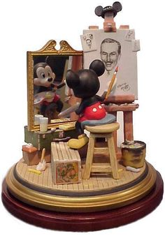 wdcc mickey walt self portrait - This is easily my very favorite WDCC item ever. A self portrait tribute.