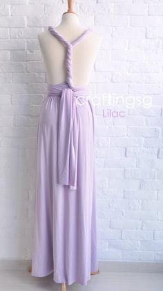 Bridesmaid Dress Infinity Dress Lilac Floor Length by craftingsg
