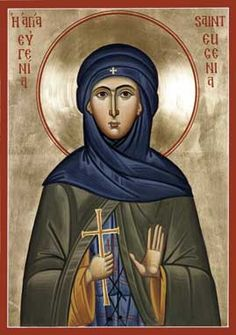 St. Eugenia Orthodox Icon » Mounted Orthodox Icons of E-F Saints » ArchangelsBooks.com