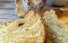 Topfenschnecken in der Auflaufform - Backen mit Christina Dessert Cake Recipes, Desserts, Banana Bread, Muffin, Baking, Breakfast, Food, Baking Tips, Yummy Cakes