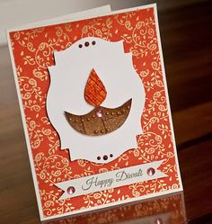 Handmade diwali card on etsy gift ideas diwali cards, diwali, diy diwali ca Diwali Cards Designs, Diy Diwali Cards, Handmade Diwali Greeting Cards, Diwali Card Making, Diwali Craft, Diwali Diy, Homemade Greeting Cards, Handmade Cards, Diy Cards